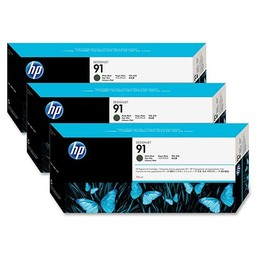 HP 91 Mat Zwart 775ml 3x