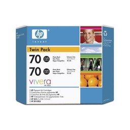 HP 70 Foto Zwart 130ml 2x