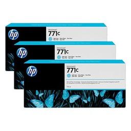 HP 771 Licht Cyaan 775ml 3x