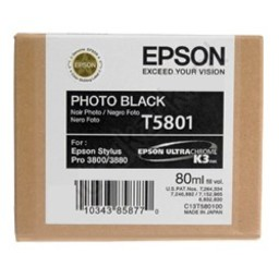 Epson T5801 Foto Zwart 80ml