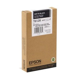 Epson T6128 Mat Zwart 220ml