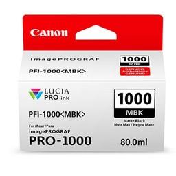 Canon PFI-1000MBK Mat Zwart 80ml - 0545C001