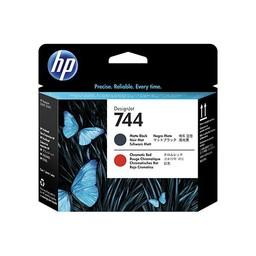 HP 744 matzwarte/chromatisch rode DesignJet printkop - F9J88A