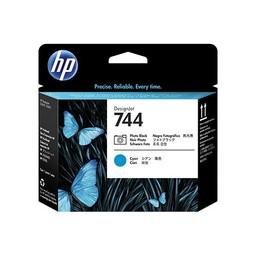 HP 744 fotozwarte/cyaan DesignJet printkop - F9J86A