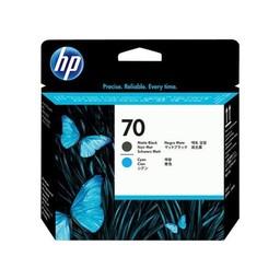 HP 70 - Mat zwart en Cyan printkop - C9404A