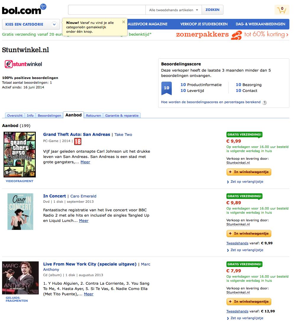 Stuntwinkel.nl opent digitaal filiaal op Bol.com