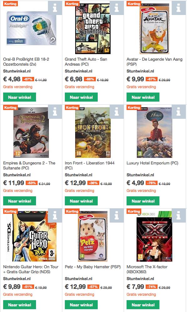 Stuntwinkel.nl assortiment nu op Kelkoo.nl