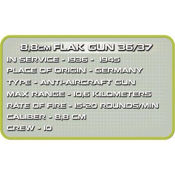 Cobi Cobi - Small Army - WW2 8,8cm Flak GUN 36/37 (2338)