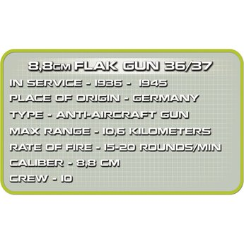 Cobi Small Army - WW2 8,8cm Flak GUN 36/37 (2338)