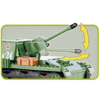 Cobi - Small Army - WW2 SU-76M Tank (2458)