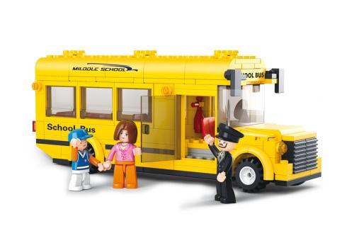 Sluban Town - Middel Schoolbus M38-B0507 Sluban