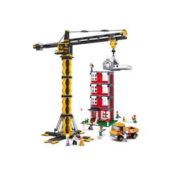 Sluban Town Construction - Mega Torenkraan met gebouw M38-B0555