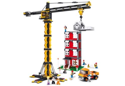 Sluban Town Construction - Mega Torenkraan met gebouw M38-B0555 Sluban