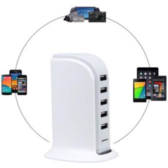 5 Poort USB Oplaadtoren Soundlogic