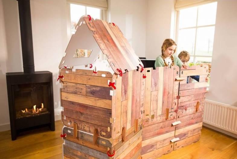 Image of Fantasy Fort hutten bouwpakket (33-delig) 8717953286901