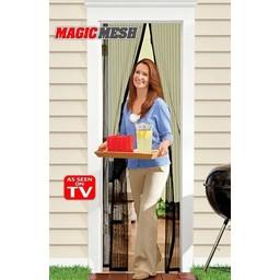 Bekend van TV Magic Mash magnetisch vliegengordijn 210x99cm (zwart)