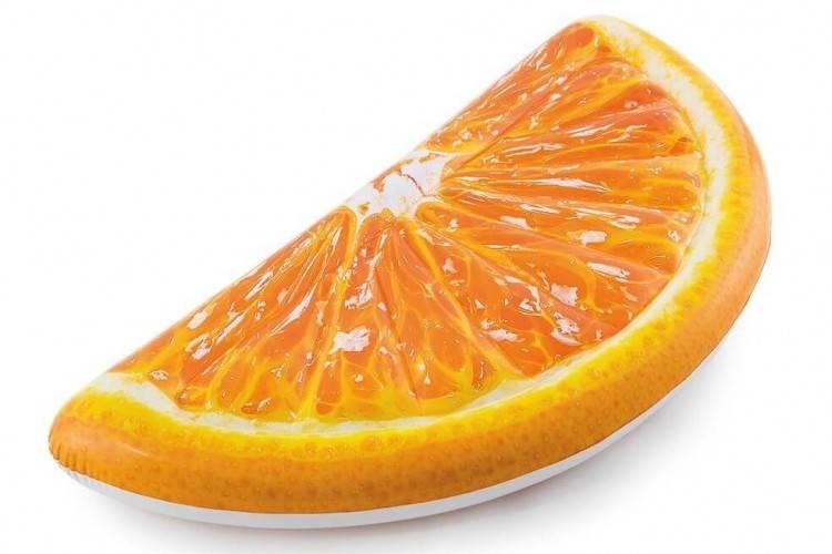 Opblaasbaar Luchtbed - Sinaasappel Partje (178x85cm) Intex