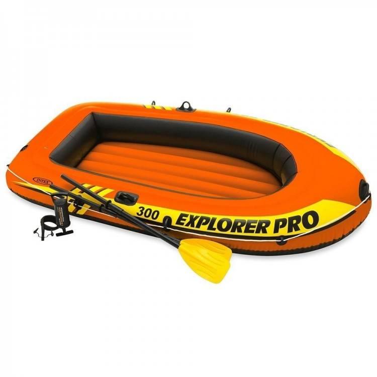 Opblaasbare Raft Boot Set Explorer Pro 300 Intex