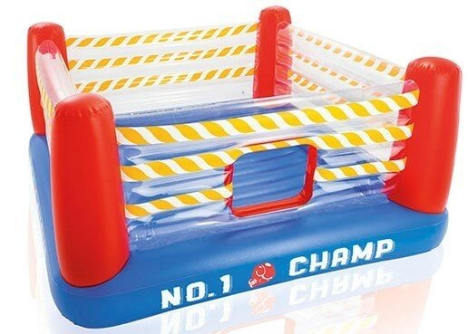 Opbaasbare boksring trampoline Jump-O-Lene (226x226x110cm) Intex