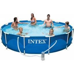 Intex Metal frame set zwembad incl. filterpomp (Ø:366cm, H:76cm)
