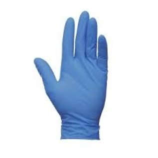 Latex handschoenen gepoederd (blauw - 1000st)