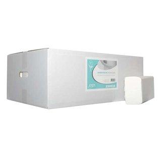 Papieren handdoeken interfold cellulose 21cm x 42cm (2000st)