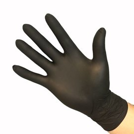 Feather Gloves Soft nitril handschoenen zwart