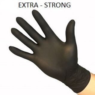 Feather Gloves   Nitril handschoenen zwart EXTRA STRONG 1000 STUKS