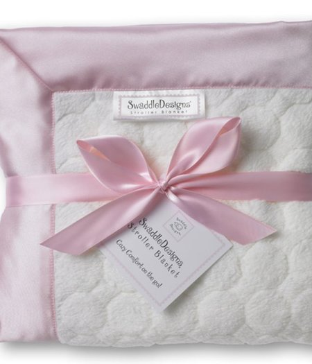 Swaddle Designs Ivory Puff Circle Pink