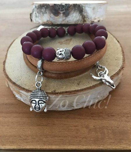 Zo Chic! Armband Purple Buddha