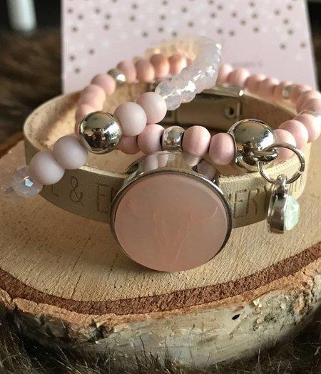 Zo Chic! Armband roze buffel