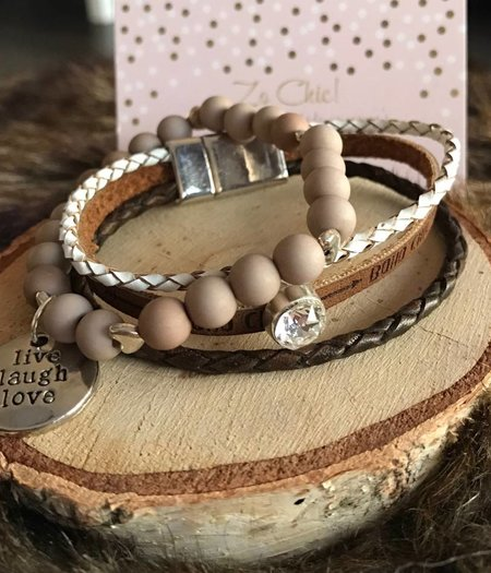 Zo Chic! Armband live laugh love