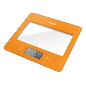 SENCOR SKS 5023OR digitale keukenweegschaal in trendy Oranje