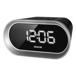 SENCOR SRC 150W Wekker radio, zwart/zilvergrijs