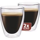 TG 235 SET van twee stuks thermo koffie glazen