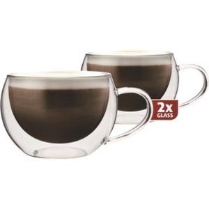 TG 300 set van 2 stuks thermo koffie / cappucino / thee glazen