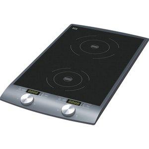 ELECTRO CENTER ELECTRO CENTER inductie kookplaat 2 zones ( dubbel ), vrijstaand in zwart
