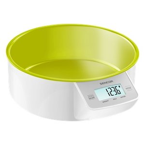 SENCOR SKS 4004GR keukenweegschaal met 1 liter kom GROEN