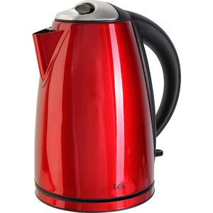 ELECTRO CENTER Waterkoker rood 1865rd RVS Vintage Cranberry Red