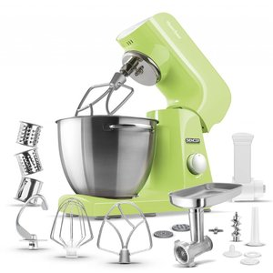 SENCOR STM 47GG keukenmachine met volledig metalen behuizing in prachtig pastel lime green / lente groen