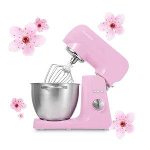 SENCOR STM 48RS keukenmachine met volledig metalen behuizing in prachtig pastel blossom pink / roze