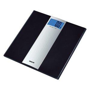 SENCOR SBS 2700 personenweegschaal met zwart gehard glas ( 6mm ) weegt tot max. 150 kg