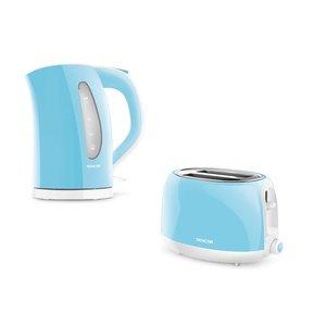 SENCOR ONTBIJTSET 32BL bestaande uit een waterkoker en broodrooster in pastel blauw