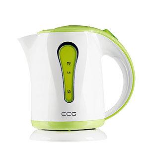 ELECTRO CENTER RK 1022GN kunststof waterkoker in de kleurcombinatie Wit-Groen, 1 liter, 1000 Watt