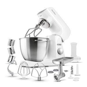 SENCOR STM 40WH keukenmachine met volledig metalen behuizing in klassiek wit
