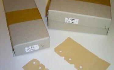 Manilla bruine labels