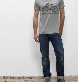 Bike like a boss Heather grey