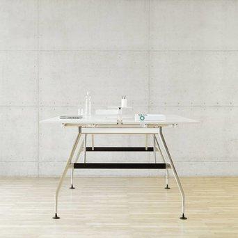 Vitra OP=OP | Vitra Ad Hoc duo bench sta- hoogte | Aluminium poot | Eigen bladen
