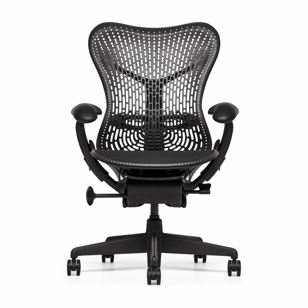 refurbished herman miller mirra bureaustoel graphite. Black Bedroom Furniture Sets. Home Design Ideas