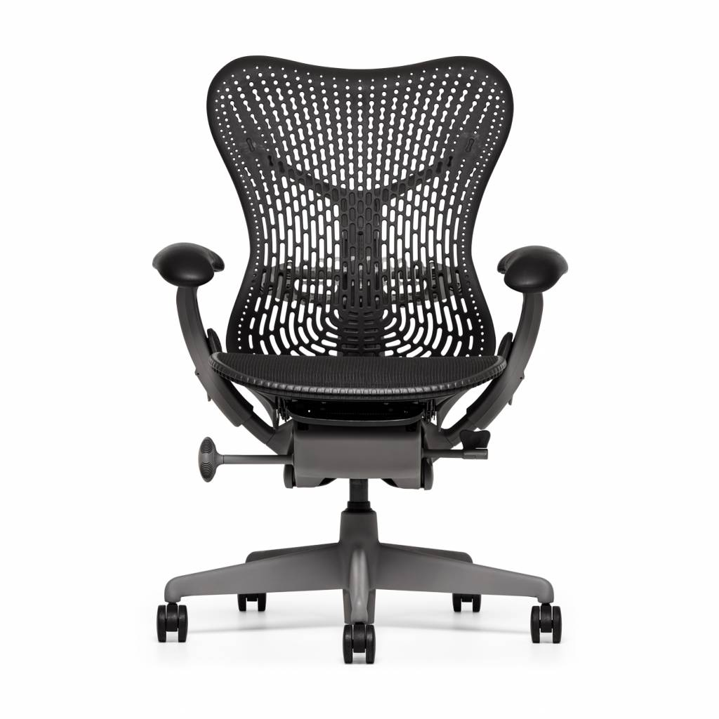 refurbished herman miller mirra chair  shadow  workbrands - refurbished herman miller mirra  shadow grey